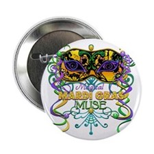 """Mardi Gras Muse 2.25"""" Button (10 pack)"""