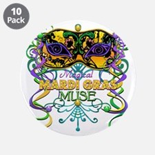 """Mardi Gras Muse 3.5"""" Button (10 pack)"""