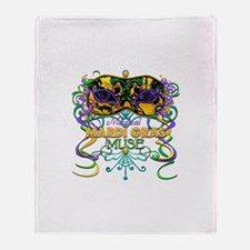Mardi Gras Muse Throw Blanket