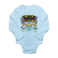 Mardi Gras Muse Long Sleeve Infant Bodysuit