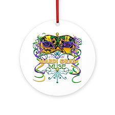 Mardi Gras Muse Ornament (Round)