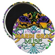 "Mardi Gras Muse 2.25"" Magnet (10 pack)"