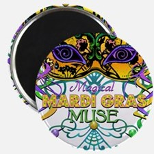 "Mardi Gras Muse 2.25"" Magnet (100 pack)"