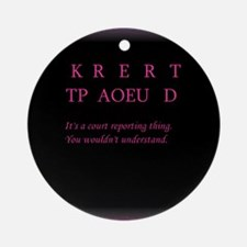Certified -Ornament (Round)