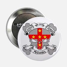 "Adams Family Crest Skull 2.25"" Button"