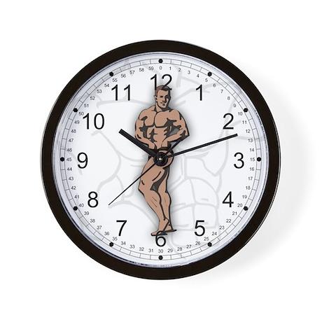 Bodybuilder Side Wall Clock by theinternetmall