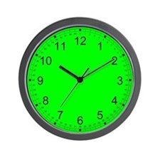 Bright Green Solid Color Wall Clock