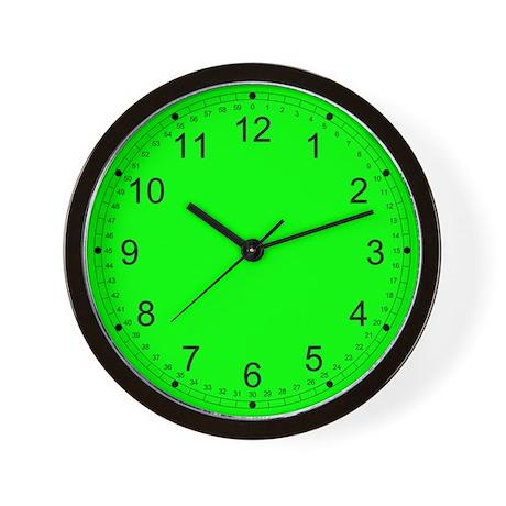 Bright Green Solid Color Wall Clock
