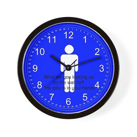 Mens Joke- Mens Bathroom Wall Clock