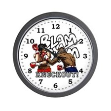 Knockout! Boxers Wall Clock