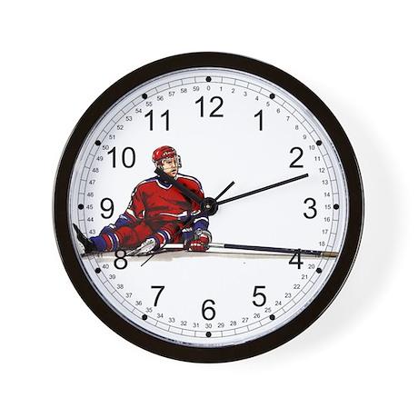Missed Goal Hockey Wall Clock