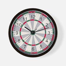 Red/Green Dart Board Wall Clock