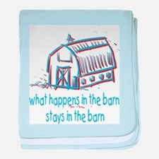 What happens in the barn baby blanket