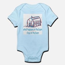 What happens in the barn Infant Bodysuit