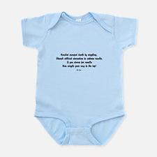Famous J.M. Lugo Quotes Infant Bodysuit