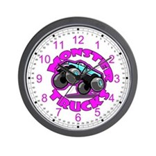 Monster Trucks Kids Wall Clock