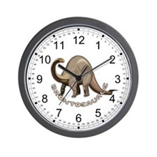Brontosaurus Dinosaur Kids Wall Clock