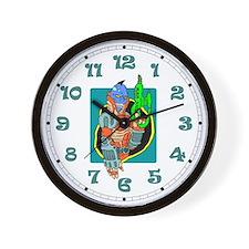 Futuristic Bounty Hunter Wall Clock
