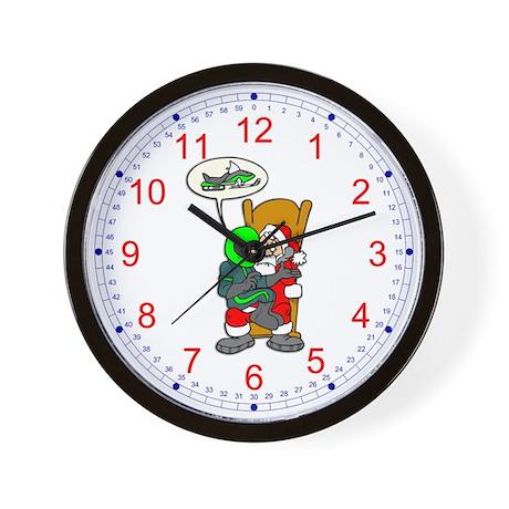 Snowmoble Christmas Wish Wall Clock