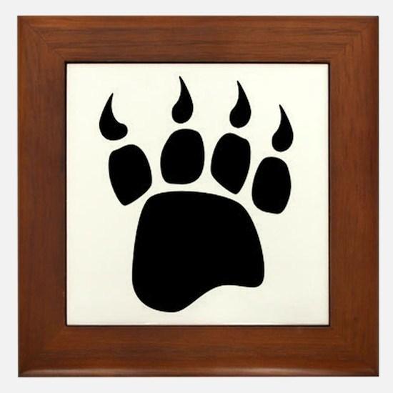 Bear paw Framed Tile