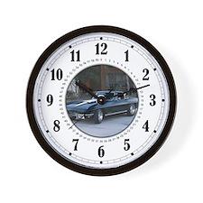 Black Classic 'Vette Wall Clock