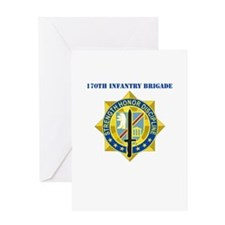 DUI-170th Infantry Brigade with text Greeting Card