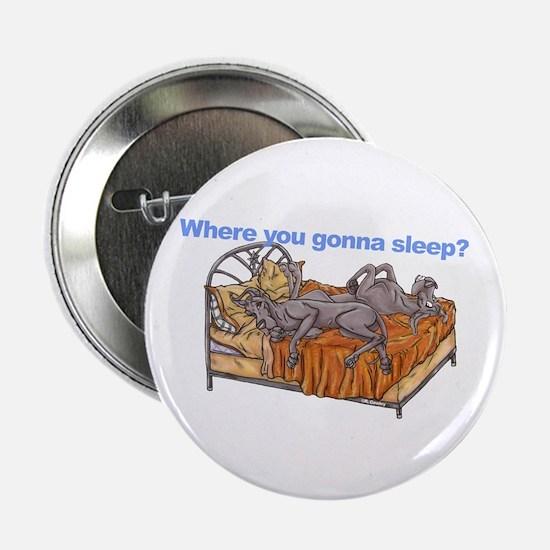 "NC Blu Where you gonna sleep 2.25"" Button"