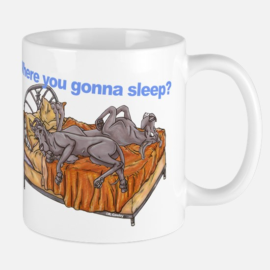 NC Blu Where you gonna sleep Mug