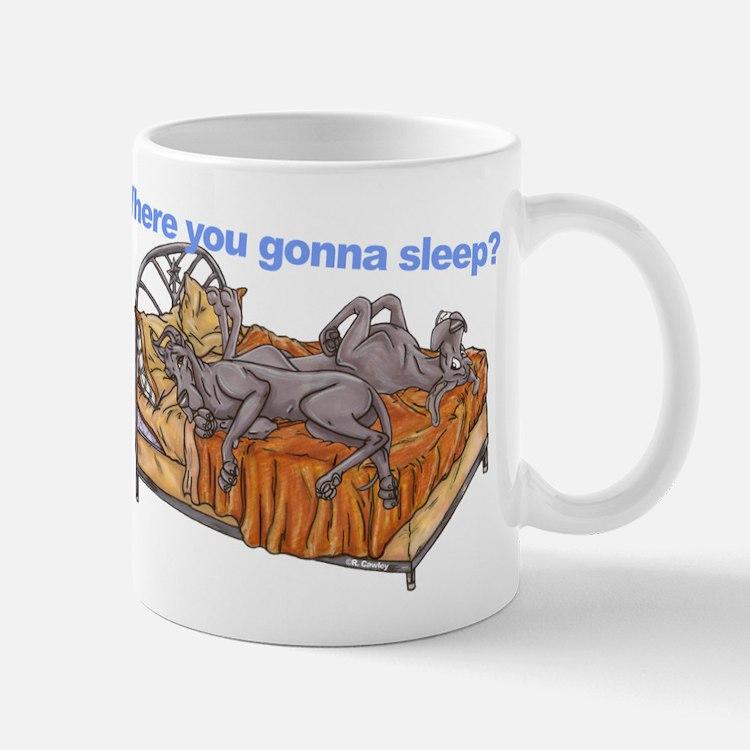 NC Blu Where you gonna sleep Mug