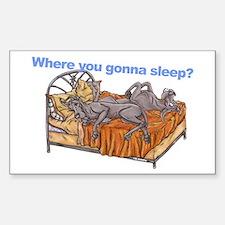 NC Blu Where you gonna sleep Sticker (Rectangle)