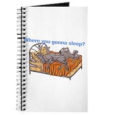 NC Blu Where you gonna sleep Journal