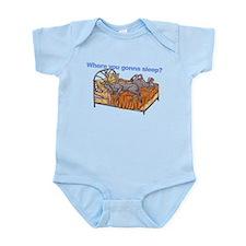 NC Blu Where you gonna sleep Infant Bodysuit