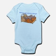 NC Blu Where you gonna sleep Infant Bodysuit