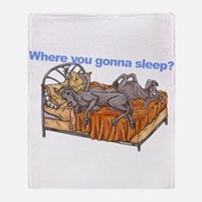 NC Blu Where you gonna sleep Throw Blanket