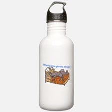 NC Blu Where you gonna sleep Water Bottle