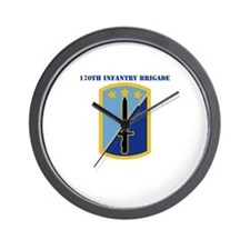 SSI-170TH INFANTRY BDE WITH TEXT Wall Clock