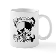 Alexander Family Crest Skull Mug
