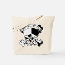 Alexander Family Crest Skull Tote Bag