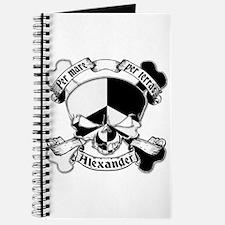 Alexander Family Crest Skull Journal