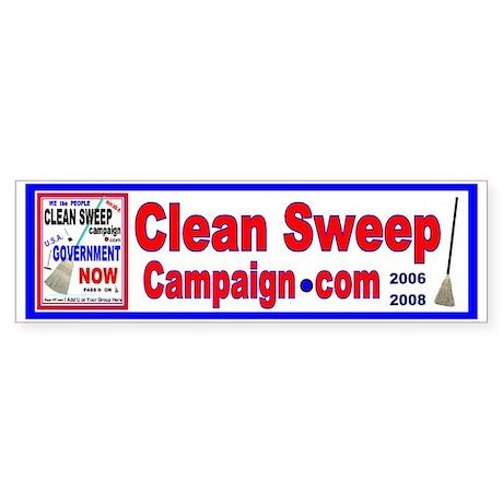 Clean Sweep campaign .com Bumper Sticker