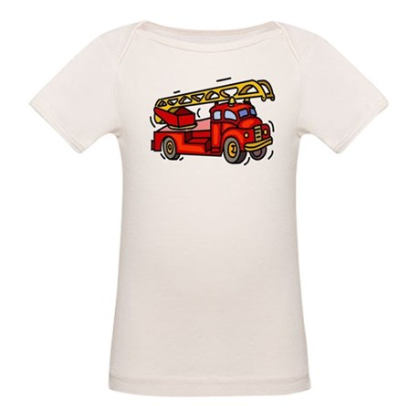 Fire Truck Organic Baby T-Shirt