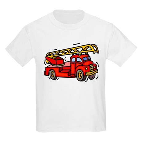 Fire Truck Kids Light T-Shirt
