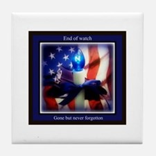 End of watch Tile Coaster
