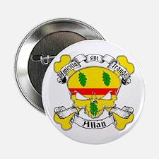 "Allan Family Crest Skull 2.25"" Button"