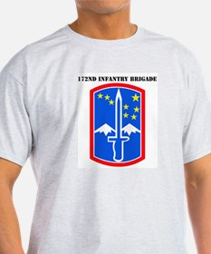 SSI-172nd Infantry Brigade with text T-Shirt
