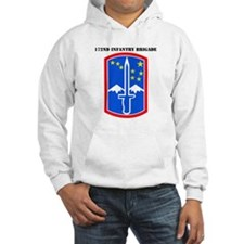 SSI-172nd Infantry Brigade with text Hoodie