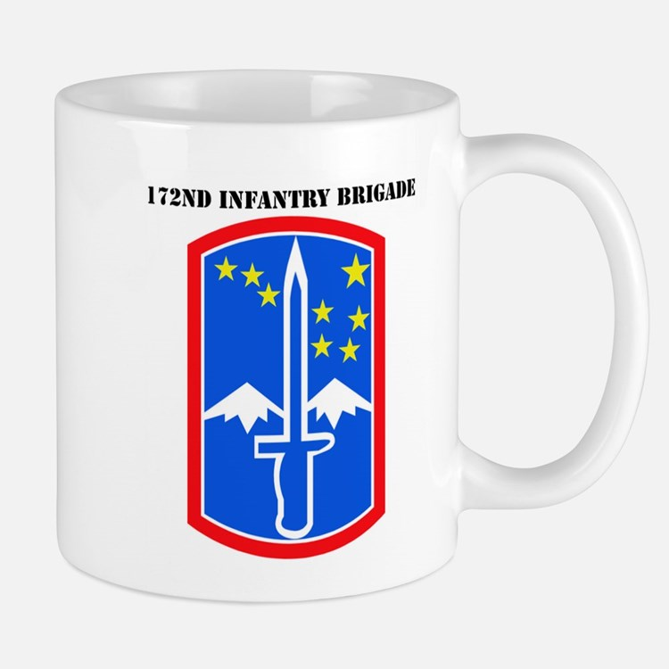 SSI-172nd Infantry Brigade with text Mug