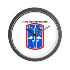 SSI-172nd Infantry Brigade with text Wall Clock