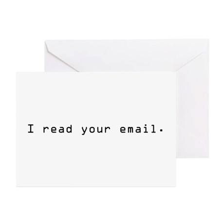 I read your email Greeting Cards (Pk of 10)