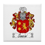 Soncini Family Crest Tile Coaster